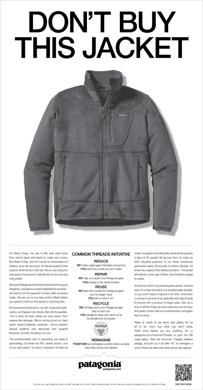 Campaign patagonia don't buy this jacket