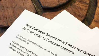 letter B corporation certification benefits business for good