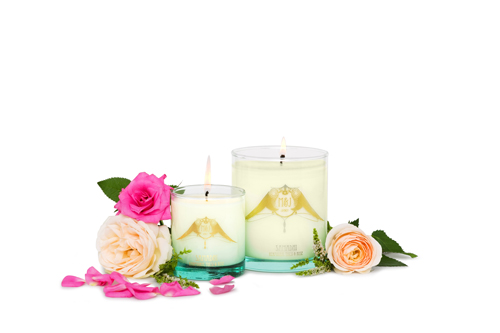 sustainable ethical scented candles Samadhi Karpuura, Tulsi & Rose