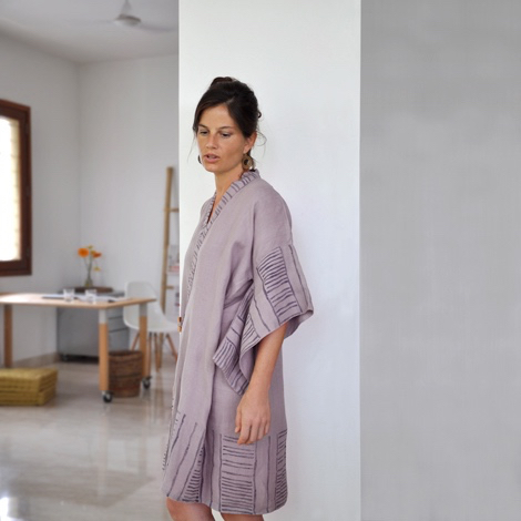 common texture handcraft eco-materials accessories Linen Bamboo Robe