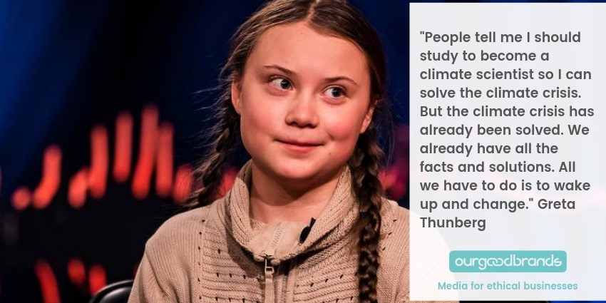 Greta Thunberg best quotes school strike news nobel prize