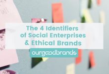 guide infographic 4 identifiers social enterprises impact ethical brands sustainable business ourgoodbrands