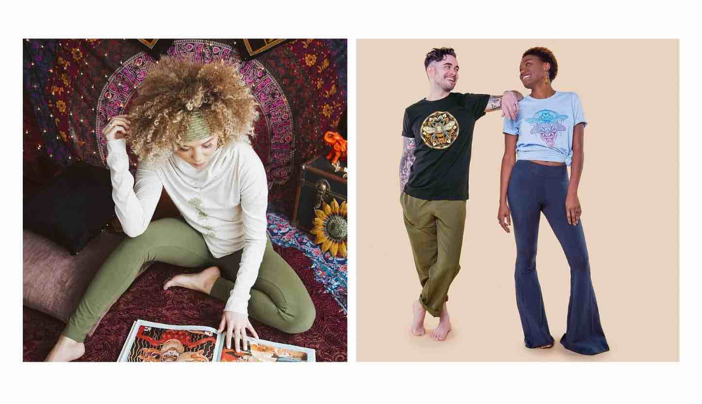 ethical eco-friendly yoga clothes sustainable yoga wear soul flower buds