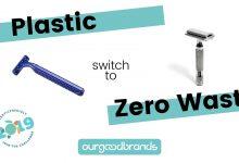Comparing safety razors vs cartridge razors Plastic Free July