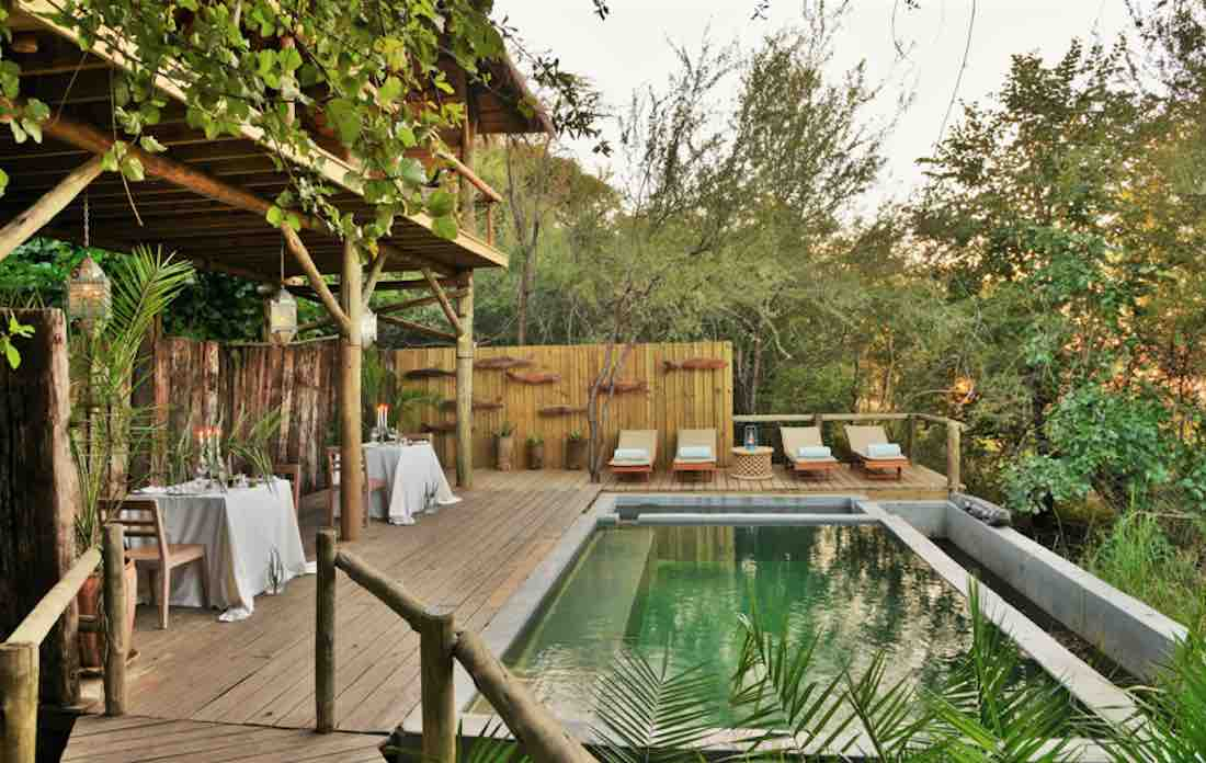 best eco-lodge africa safari Chobe Bakwena Lodge Botswana