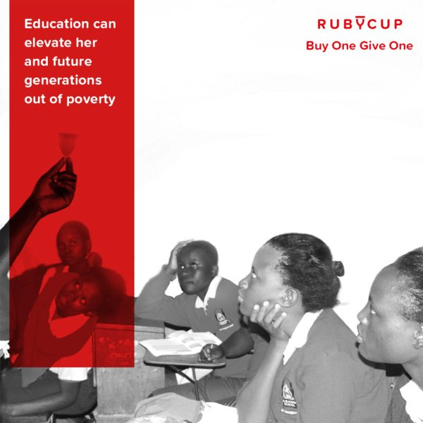 Ruby Cup menstrual cup period dignity give back education