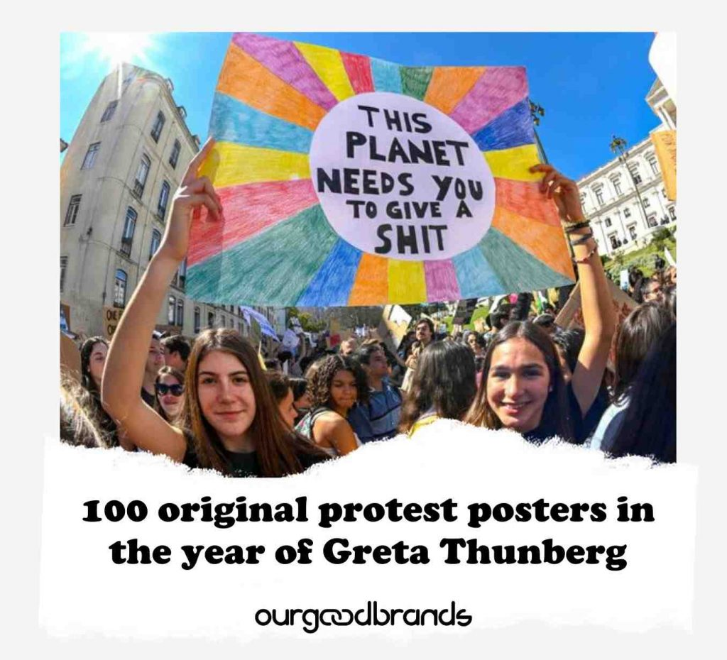 100 original protest posters in the year of Greta Thunberg